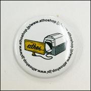 アトスの犬小屋デザイン缶バッジ