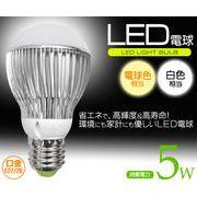 環境にも家計にも優しい E26/27口金 LED電球 5W(40W電球相当)