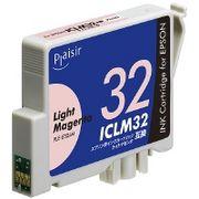 プレジール  エプソンICLM32ライトマゼンタ対応汎用インクカートリッジ PLE-E32LM
