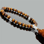 天然石 高品質(タイガーアイ&水晶)念珠・数珠【FOREST 天然石 パワーストーン】