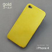 ☆割引キャンペン商品☆iPhone4対応 iPhoneカバー(メッキ仕様ゴールド)