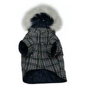 タータン・チェック ダウンコート(中綿)【犬服】/グレー