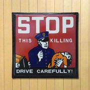 ホーロー看板 STOP -DRIVE CAREFULLY-
