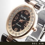 【レディース仕様】★ピンクゴールド オーバルフェイス レディース腕時計【保証書付】