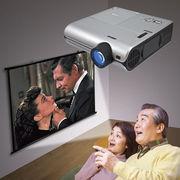 DVD一体型LEDプロジェクターホームシアターセット NRT-350S(60インチスクリーン付き)