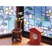 GLS-9257 窓飾りシート(ステンドタイプ) 92cm丈×90cm巻 パープル