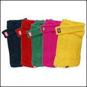 縄編みマフラー付きニット【犬服】:レッド フレンチブルドッグ服 パグ服