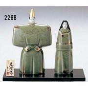 ★ひな祭りを飾る★ 陶製の雛人形 【瑞祥 立雛】