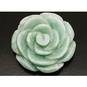 天然石アマゾナイト 薔薇バラ花フラワー アクセサリーパーツルース置物t102