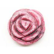 天然石ロードナイト 薔薇バラ花フラワー アクセサリーパーツルース置物t84