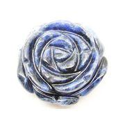 天然石ソーダライト 薔薇バラ花フラワー アクセサリーパーツルース置物t79