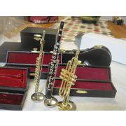 ミニ楽器のオーナメント 管楽器と弦楽器