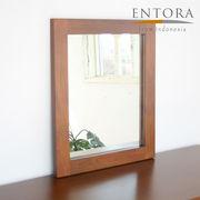 ENTORA 012 マホガニーミラー(W50×H60×D3)鏡 木製 インテリアミラー アジアン家具