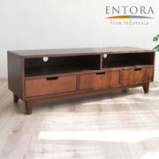 ENTORA 005 マホガニーTVボード(W140×H45×D40)テレビ台 木製 AVボード ローボード 完成品