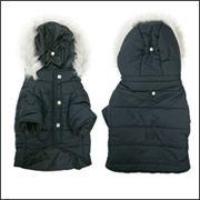 クラシックカラー ダウンコート(中綿)犬服 ブラック フレンチブルドッグ服 パグ服