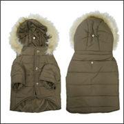 クラシックカラー ダウンコート(中綿)犬服 ブラウン フレンチブルドッグ服 パグ服