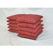 新製品でお買い得  赤 ボリュームたっぷりのあったかい銘仙版 刺子柄座布団(10枚組) 赤 日本製