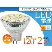 <LED電球>店舗用照明に最適! GZ4用LEDスポットライト 12V専用