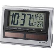 【代引不可】 シチズン ソーラー電源電波目覚まし時計 目覚まし時計