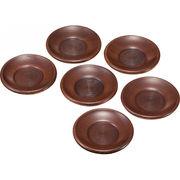 【代引不可】 木製 茶托6枚揃 キッチン用品・食器・調理器具 その他