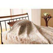 【代引不可】 ジャカード織シルク毛布 寝具