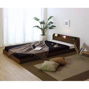 【代引不可】 棚・照明・コンセント付フロアベッド ベッド