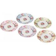 【代引不可】 ピュアローズ プチケーキ皿5枚セット プレート