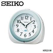 セイコー 置時計 「夜でも見える」自動点灯目ざまし時計 KR331W
