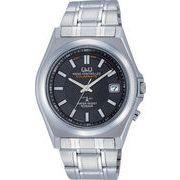 【CITIZEN】シチズン Q&Q ソーラー電源 アナログ電波 メンズ腕時計HG08-202