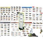 売れ筋サングラス90個アソートスターターセット【90個掛け回転式ディスプレイ付き】(YR-90F)