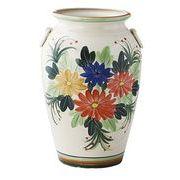 陶器傘立て【手描き花柄】
