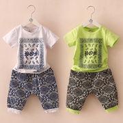 ★夏新型★韓国風★キッズ男の子★半袖Tシャツ+ショートズボン