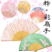 【シルク/日本/雑貨】粋・彩扇子/日本/お土産/和/桜/和風/富士山/夏/清涼
