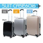 スーツケース 6016 【Mサイズ】 金 TR-6016-M-GO