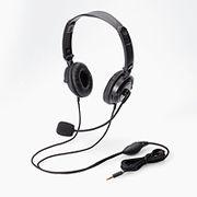 エレコム ヘッドセット(4極両耳折りたたみオーバーヘッド) HS-HP20TBK