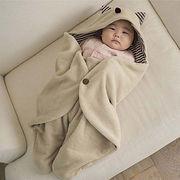 格安!ベビー★赤ちゃん用寝袋★ベビーカー★幼児用シュラフ★綿入れ★ロンパース式★フード付★ボーダー