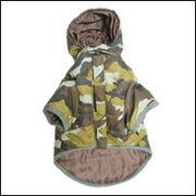 カモフラ ダウンコート(中綿)犬服[迷彩柄/カモフラージュ柄]ブラウン