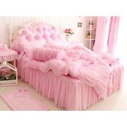 美しいデザイン寝具 ★ベッドスカート ・ベッドカバー ・枕カバー★お姫系