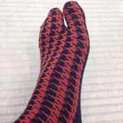 男性用 足袋靴下 サイズ 24-26センチ 千鳥格子柄