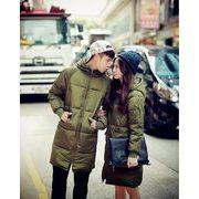 ダウンコート 中綿 カップル ペアルック 男女兼用 長いコート 防寒 大きいサイズ
