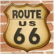 ★【Antique ITEM】★とってもお洒落な★★アンティークプレートダイカット★★ルート66 Route66★