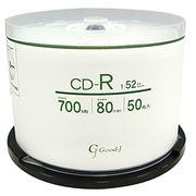 Good-J CD-R データ&音楽対応(700MB/80min) 1-52倍速  50枚 スピンドルケース GCR52X50P