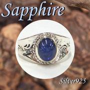 リング / 11-0048s  ◆ Silver925 シルバー リング サファイア