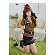 女警官 ステージ衣装 婦警 警察 コスプレ レースクイーン コスチューム ハロウィン仮装 bwn0301-1