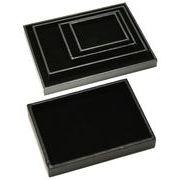 ディスプレイ用品 トレイ/トレー 黒/ブラック 180x255x25mm