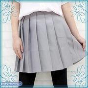 ■送料無料■無地プリーツスカート単品 色:グレー サイズ:M/BIG
