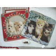 ジャガード織 犬と猫のクッションカバー 30cm角追加