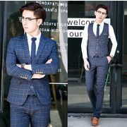 成人式 入学式3点 ビジネス メンズ 1ボタンスリムスーツ/卒業式 セットアップ/大きいサイズ 紳士服