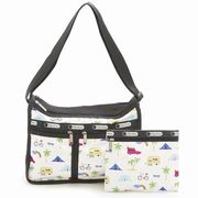 LeSportsac 7507 D836 Roadtrip Vaca Cream �f���b�N�X�G�u���f�C�o�b�O Deluxe Everyday Bag  ���f�B�[�c