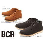 【BCR】 BC-667 ステッチ レースアップ チャッカブーツ 全2色 メンズ